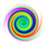 Rainbow spiral. An illustration of a rainbow spiral vector illustration