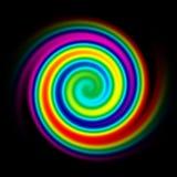 Rainbow spiral. An illustration of a rainbow spiral stock illustration