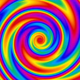 Rainbow Spiral royalty free illustration
