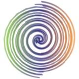 Rainbow spiral Backdrop stock illustration