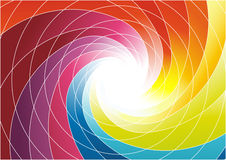 Rainbow spiral - bright colorful background Royalty Free Stock Image