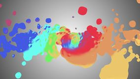 Rainbow spiral colorful splatter blot spreading turbulent abstract painting illustration background new unique quality. Art stylish joyful cool nice beautiful royalty free illustration
