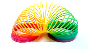 Rainbow spiral. Colorful toy for children Royalty Free Stock Photography