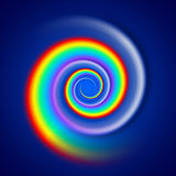 Rainbow spiral spectrum Royalty Free Stock Photography