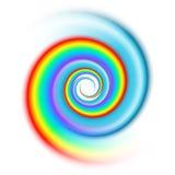 Rainbow spiral spectrum Stock Photo