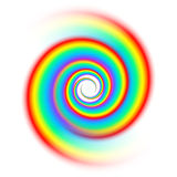Rainbow spiral spectrum Royalty Free Stock Images