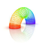 Rainbow spiral spring Stock Image