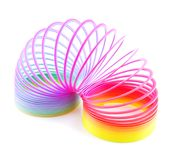 Rainbow spiral spring on-the-mitre Stock Image