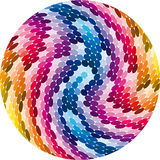 Rainbow Spiral Wave. Illustration for the wide range of color spectrum Royalty Free Stock Photos