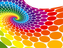 Rainbow Spiral Wave stock illustration