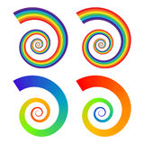 Rainbow spirals Royalty Free Stock Photography