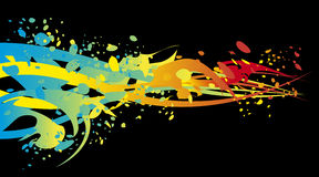 Rainbow splash. Colorful illustration rainbow with ink splashes Stock Illustration