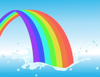 Rainbow splash Royalty Free Stock Photos