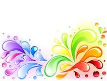Rainbow splash Royalty Free Stock Images