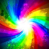 Rainbow splash Stock Image