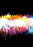 Rainbow splat crowd Royalty Free Stock Photos