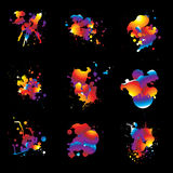 Rainbow splat nine Stock Images