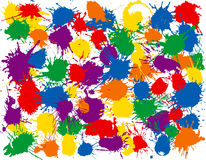 Rainbow Splatter. Many inkblots to add to your designs Royalty Free Stock Images