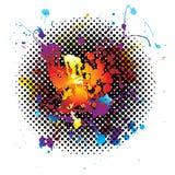 Rainbow splatter grunge Stock Image
