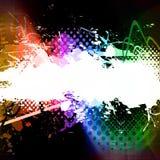 Rainbow Splatter Layout Stock Photo