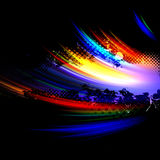 Rainbow Splatter Layout stock illustration