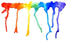 Rainbow Splatters Stock Photo