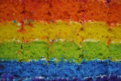 Rainbow sponge cake Royalty Free Stock Photos