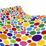 Rainbow Sponge Wave. Colorful Rainbow Sponge Wave Background Stock Images