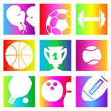 Rainbow sports Royalty Free Stock Images