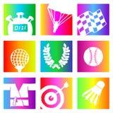 Rainbow sports Stock Photos