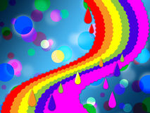 Rainbow Spots Background Means Painted And Dotted Stock Photography