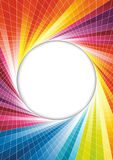 Rainbow spring background - circle Stock Image