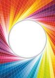 Rainbow spring background - circle Stock Image