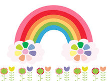 Rainbow color. Rainbow spring flower abstraction illustration stock illustration