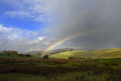 Rainbow. Spring Rainbow over the Yorkshire Dales Royalty Free Stock Photos