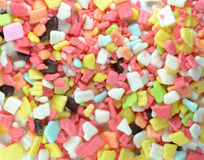 Rainbow Sprinkles Confectionery Topping Background Stock Image