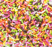 Rainbow Sprinkles Mini Bar Confectionery Topping Stock Photography