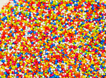 Rainbow sprinkles topping Royalty Free Stock Photos