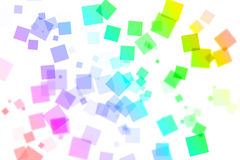 Rainbow square bokeh on white background Royalty Free Stock Photo