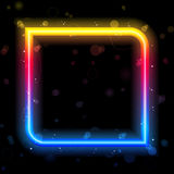 Rainbow Square Border Stock Photography