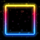 Rainbow Square Border with Sparkles Stock Photo