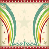 Rainbow square circus invitation. A retro square circus background for an invitation with two rainbows Royalty Free Stock Photography