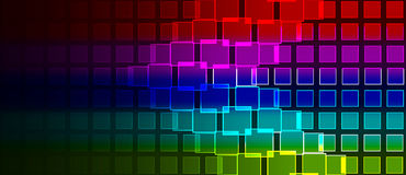 Rainbow squares composition Stock Image