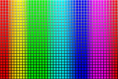 Rainbow Squares Royalty Free Stock Image