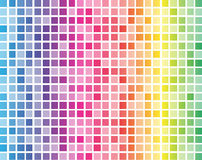 Rainbow squares with white grid background Royalty Free Stock Image