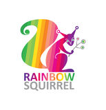 Rainbow Squirrel. Royalty Free Stock Photography