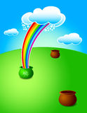 Rainbow St.Patricks pot Royalty Free Stock Photos