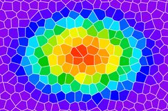 Rainbow stained glass. An illustration of rainbow. stained glass Stock Images