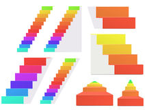 Rainbow staircase Royalty Free Stock Photography