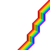 Rainbow stairs Royalty Free Stock Images